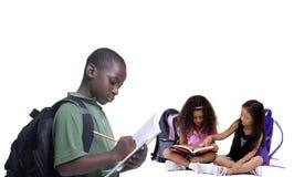 Gruppo di bambini del banco Immagini Stock Libere da Diritti