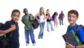Gruppo di bambini del banco Fotografia Stock Libera da Diritti