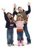 Gruppo di bambini felici Immagini Stock