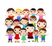Gruppo di bambini felici Fotografie Stock
