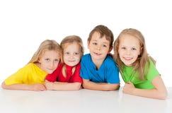 Gruppo di bambini felici fotografia stock