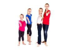 Gruppo di bambini felici con i pollici su Fotografia Stock
