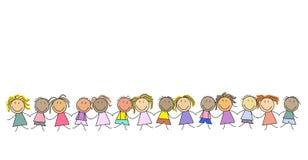 Gruppo di bambini - gruppo dei bambini s Immagini Stock Libere da Diritti