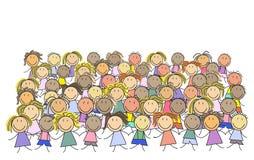 Gruppo di bambini - gruppo dei bambini s royalty illustrazione gratis