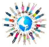 Gruppo di bambini intorno al mondo Fotografia Stock Libera da Diritti
