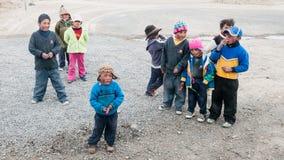 Gruppo di bambini peruviani Immagini Stock Libere da Diritti