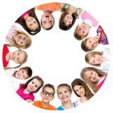 Gruppo di bambini sorridenti Fotografia Stock