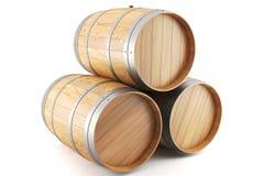 Gruppo di barilotti di vino Immagini Stock