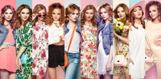 Gruppo di belle giovani donne Fotografie Stock Libere da Diritti