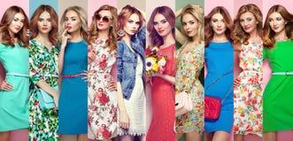 Gruppo di belle giovani donne Fotografia Stock