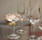 Gruppo di bicchieri di vino Fotografia Stock
