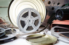 Gruppo di bobine di film Immagine Stock