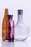 Gruppo di bottiglia in bianco Fotografia Stock