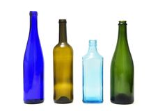Gruppo di bottiglia isolato su bianco fotografia stock