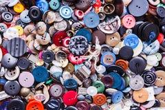 Gruppo di bottoni variopinti Fotografia Stock
