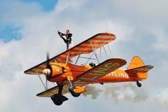 Gruppo di Breitling Wingwalkers Fotografie Stock