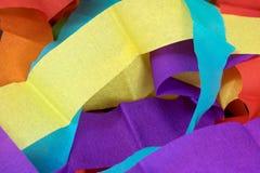 Gruppo di carta della striscia di colore Immagini Stock