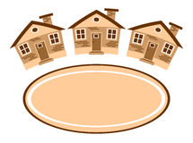 Gruppo di case e di posto per testo Immagine Stock Libera da Diritti