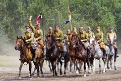Gruppo di cavalieri del cavallo Fotografie Stock Libere da Diritti