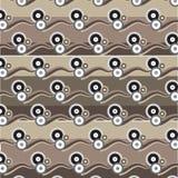 Gruppo di cerchio marrone d'argento nero bianco con il patt marrone dell'onda dell'ombra royalty illustrazione gratis