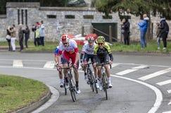 Gruppo di ciclisti - 2019 Parigi-piacevole fotografia stock