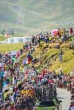 Gruppo di ciclisti su Col du Glandon - Tour de France 2015 Fotografie Stock Libere da Diritti