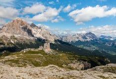 Gruppo di Cinque Torri in dolomia del sud del Tirolo Fotografia Stock