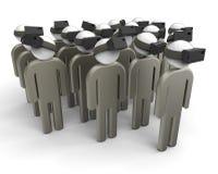Gruppo di concetto di realtà virtuale Fotografia Stock Libera da Diritti