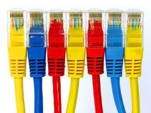 Gruppo di connettori rj45 di colore Fotografie Stock