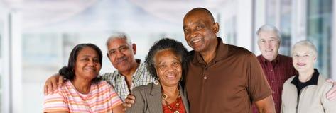 Gruppo di coppie anziane Fotografia Stock