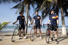 Gruppo di corsa della bici Immagini Stock
