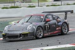 Gruppo di corsa di Ruffier Porsche 991 24 ore di Barcellona Fotografie Stock