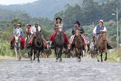 Gruppo di cowboy a cavallo Fotografia Stock Libera da Diritti
