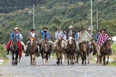 Gruppo di cowboy nell'Ecuador Fotografie Stock