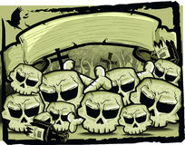 Gruppo di cranio nella seppia Immagini Stock Libere da Diritti
