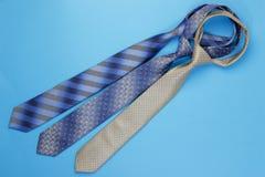 Gruppo di cravatte variopinte Immagini Stock