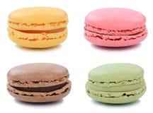 Gruppo di dessert della raccolta dei biscotti dei maccheroni dei macarons da Fran Fotografia Stock