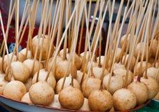 Gruppo di dessert tailandese fritto della sfera. Fotografie Stock Libere da Diritti
