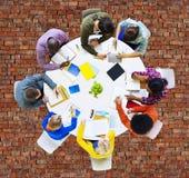Gruppo di diversa gente che lavora in Team Concept Immagini Stock Libere da Diritti