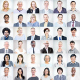 Gruppo di diversa gente di affari multietnica