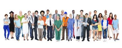 Gruppo di diversa gente mista multietnica di occupazione fotografie stock