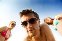 gruppo di divertimento di amicizia che ha piccolo Fotografia Stock
