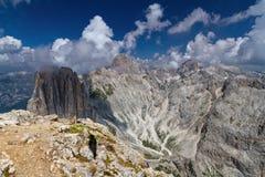 Gruppo di Dolomiti - di Rosengarten/Catinaccio fotografie stock