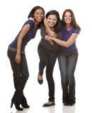Gruppo di donne casuali Fotografia Stock
