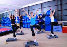 Gruppo di donne che si esercitano nel randello di forma fisica. Immagini Stock Libere da Diritti