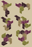 Gruppo di elementi di progettazione geometrica. Fotografia Stock
