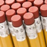 Gruppo di eraser di matita. Immagine Stock