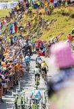 Gruppo di favoriti su Col du Glandon - Tour de France 2015 Immagini Stock