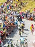 Gruppo di favoriti su Col du Glandon - Tour de France 2015 Immagine Stock