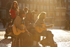 Gruppo di flamenco Immagine Stock